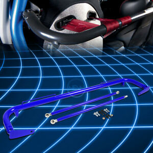 49 Universal Racing Seat Belt Harness Bar Adjustable Chassis Support Rod Blue