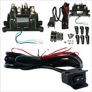 Dc12v 200a Atv Utv Solenoid Relay Contactor Winch Rocker Thumb Switch Tool Kit