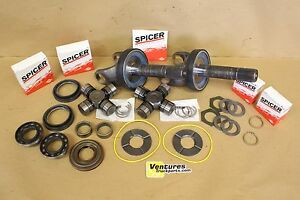 Ford Super Duty F250 F350 Dana 50 Front Axle Shaft U joint Seal Kit 98 01