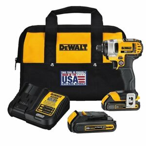 Dewalt Dcf885c2r 20 Volt Max 20v Li ion 1 4 Cordless Impact Driver Kit With Bag