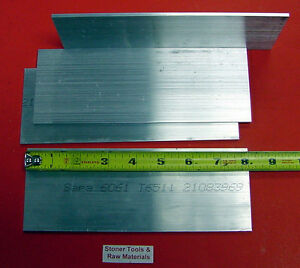 4 Pieces 1 8 X 4 Aluminum 6061 Flat Bar 8 Long Extruded Plate Mill Stock New