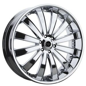 4pcs 26 Versante Wheels Ve225 Chrome Rims