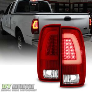 1997 2003 Ford F 150 1999 2007 F 250 F 350 Red Led Light Tube Tail Lights Lamps