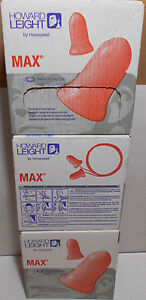 Lot Of 300 Howard Leight30 3301130 Max Disposable Earplug Corded Sleep Aid Plugs