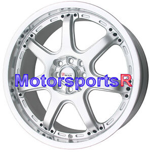 Sportmax 036 18 X 7 5 45 Silver Machine Lip Wheels Rims 4x100 Acura Integra Gsr