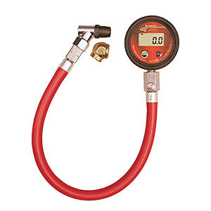 Tire Gauge Longacre Digital Air 0 100 Lb Psi 2 Inch Pressure 14 Hose Face Chuck