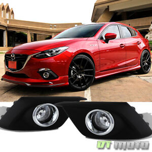 2014 2016 Mazda 3 glass Lens Bumper Fog Lights Driving Lamps W switch Mazda 3