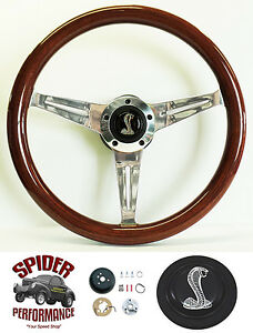 1965 1969 Mustang Steering Wheel Cobra 14 1 2 Mahogany