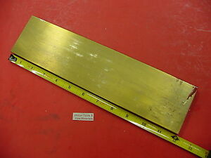 1 2 X 3 C360 Brass Flat Bar 12 Long Solid Plate Mill Stock H02 50 x 3 0 x 12