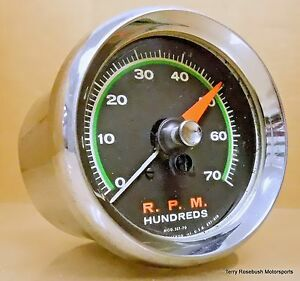 Sun Sst 70 Super Tach 7 000 Rpm Green Face W Chrome Cup Mount