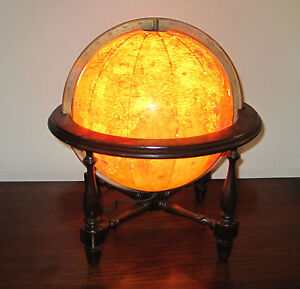 Beautiful Replogle 10 Library Lighted World Globe Approximately 1948