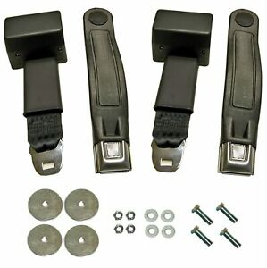 67 73 Mustang Retractable Seat Belt Kit Lap Belts And Hardware For 2 Seats