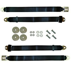 65 73 Mustang Seat Belts With Push Buttons Kit Belts And Hardware For 2 Seats