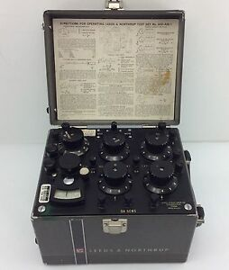Leeds Northrup Vintage Test Set 5430 am 1 Wheatstone Bridge Galvanometer