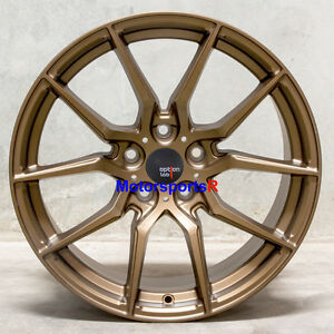 Option Lab R716 18 X 9 5 22 Bronze Rims Wheels 5x114 3 Mitsubishi Evolution X