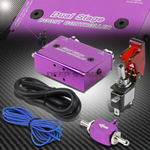 Adjustable Manual Turbo Boost Electronic Controller Actuator Bypass Set Purple