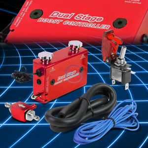 Aluminum Mt Dual Stage Turbo Electronic Boost Pressure Controller switch Red