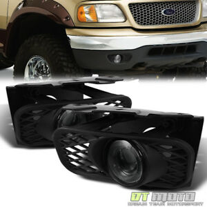 Smoked 1999 2003 Ford F150 99 02 Expedition Led Halo Projector Fog Lights switch