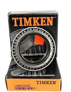 Lot Of 2 Nib Timken Lm603049 Bearings Tapered Roller 1 7812in bore 7812in w