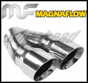 Magnaflow Double Wall 3in Dual Round Polished Tip 2 25in Inlet