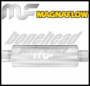 Magnaflow 10416 Performance Stainless Round Muffler 2 5 Inlet Outlet Exhaust
