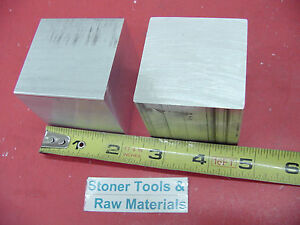 16 Pieces 2 X 2 X 2 Aluminum Square 6061 Flat Bar Solid T6511 New Mill Stock