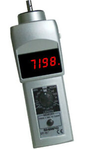 Shimpo Dt 107a 12kmw Led Display Contact Tachometer