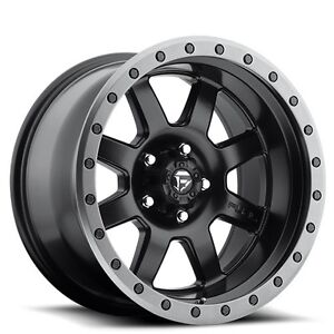 4rims Off Road 18x10 Fuel Wheels D551 Trophy Black Rims