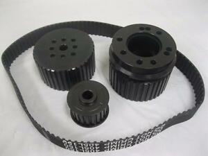 Big Block Chevy Black Gilmer Belt Drive Pulleys 396 454 Bbc Long Pump Pulley Set