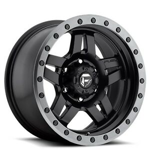 4rims Off Road 18x8 Fuel Wheels D557 Anza Black Rims