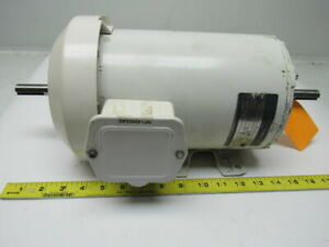 Ge General Electric 2 Hp 145t Double Shaft Wash Down Duty Motor 208 230 460v
