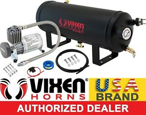 1 5 Gal Air Tank 150 Psi Compressor Onboard System Kit F Train Horn 12v Vxo8815
