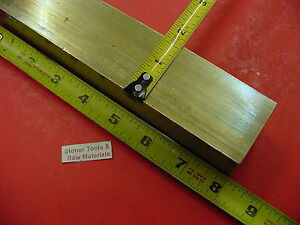 1 5 8 X 1 5 8 C360 Brass Square Bar 8 Long Solid 1 625 Flat Mill Stock H02