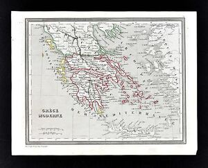1835 Monin Fremin Map Greece Athens Corinth Cyclades Aegean Sea Turkey Europe
