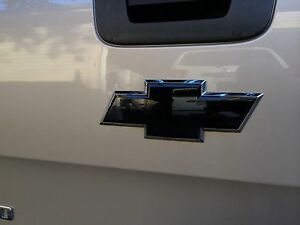 Matte Black Vinyl Sheets Overlay And Cut For Chevy Bowtie Emblems Grill