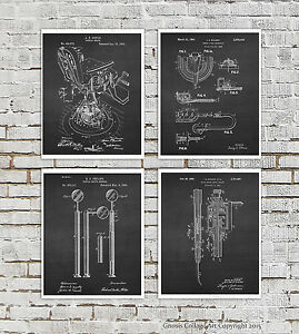 Dentist Office Decor Set Of 4 Unframed Dental Patent Art Prints Dentist Gift