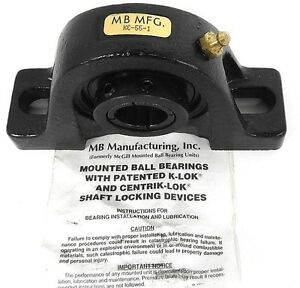 Nib Mb Mfg Kc 55 1 Pillow Block Ball Bearing 1inch Dia 2bolt Krown Regal Series