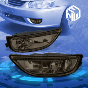 Smoke Tinted Front Driving Fog Light lamp Pair For 2001 2002 Toyota Corolla E110