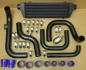 Blk Aluminum Blot On Turbo Intercooler Piping Kit Honda Civic 96 00 D16 B18 Ssqv