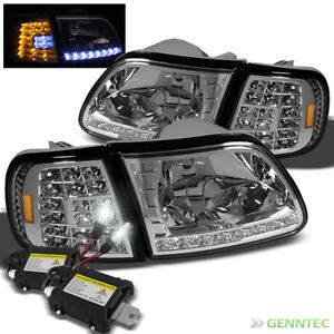 For Slim Xenon 6000k Hid 97 02 Ford Expedition Led Headlights corner Light Lamp