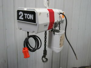Coffing 4024 3 2 Ton Electric Chain Hoist 12 Lift 24fpm 208 230 460v
