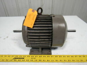 Century 3hp Double Shaft Electric Motor 3ph 230 460v 132t Frame 3400 Rpm