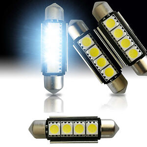 4x Super White 42mm 4 Smd Led 212 2 578 6429 Festoon Dome Interior Light Bulb