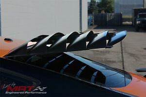 Rear Window Louvers Aluminum With Prop Rod Kit 12u911 For Mustang 2015 2018