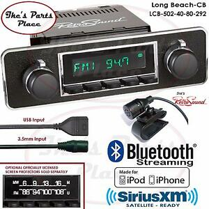 Retrosound Long Beach Cb Radio Bluetooth Ipod Usb Mp3 Rds 3 5mm Aux In 502 40 Mb