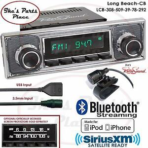 Retrosound Long Beach Cb Radio Bluetooth Ipod Usb Rds 3 5mm Aux In 308 509 Vw