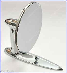 Cadillac Universal Chrome Round Door Mount Mirror Rearview With Gasket Screws