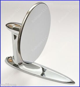 Plymouth Universal Chrome Round Door Mount Mirror Rearview With Gasket