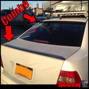 284r 244l Vw Jetta Iv 1999 05 4dr Rear Trunk Lip Wing And Roof Spoiler Mk4