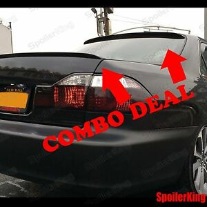 Combo Spoilers Fits Honda Civic 2001 05 2dr Rear Roof Wing Trunk Lip